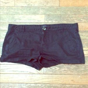 Express black shorts size 10 with stretch
